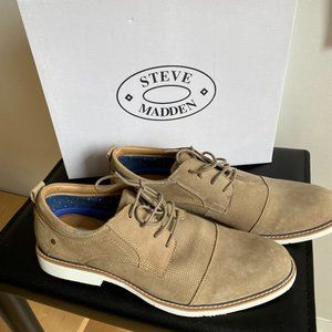 Steve Madden Oxford Taupe Casual lace up sz 12 NEW